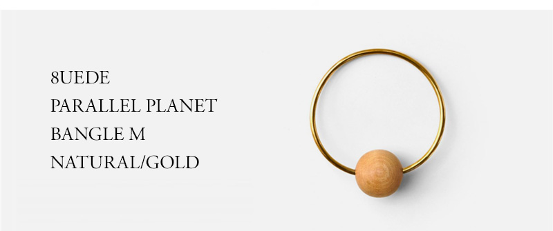 8UEDE - PARALLEL PLANET BANGLE M - NATURAL/GOLD