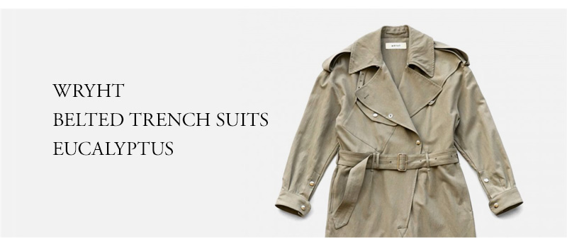 WRYHT - BELTED TRENCH SUITS - EUCALYPTUS
