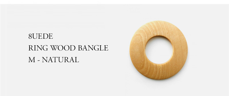 8UEDE - RING WOOD BANGLE M - NATURAL