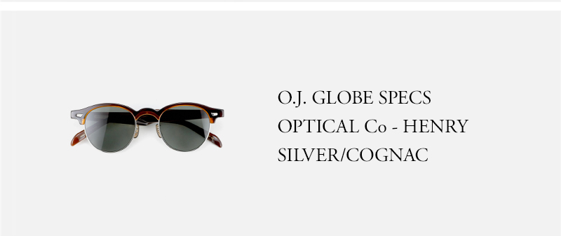 OLD JOE - O.J. GLOBE SPECS OPTICAL Co - HENRY - SILVER/COGNAC