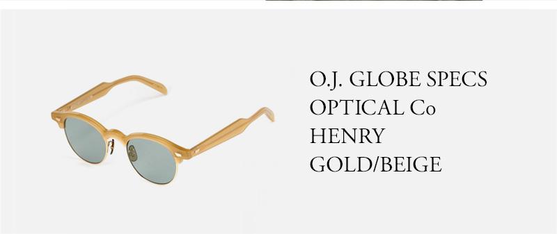 O.J. GLOBE SPECS OPTICAL Co HENRY GOLD/BEIGE