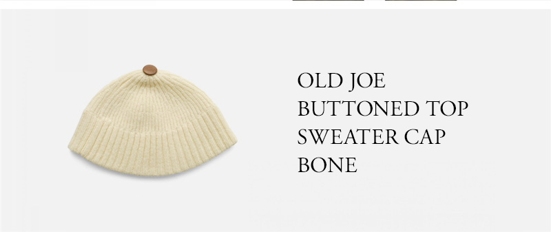 OLD JOE BUTTONED TOP SWEATER CAP BONE