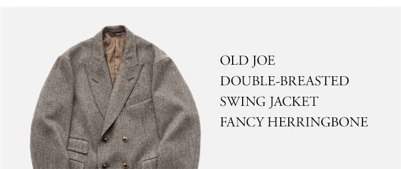 OLD JOE DOUBLE-BREASTED SWING JACKET FANCY HERRINGBONE