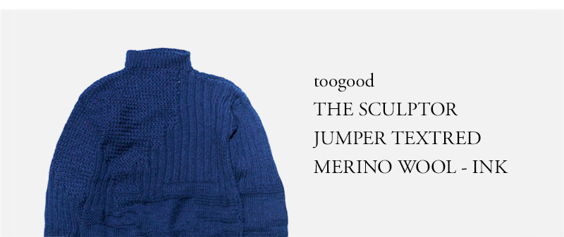 toogood THE SCULPTOR JUMPER TEXTRED MERINO WOOL - INK