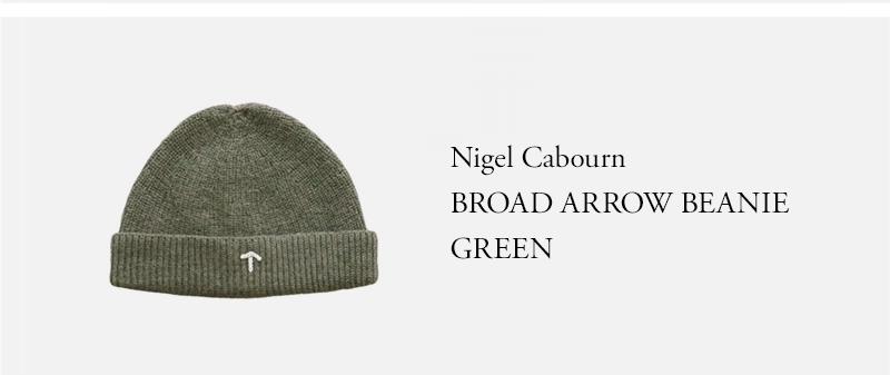 Nigel Cabourn BROAD ARROW BEANIE GREEN