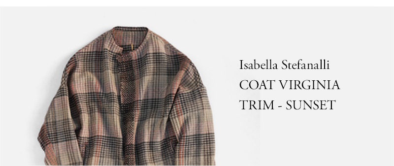 Isabella Stefanalli COAT VIRGINIA TRIM - SUNSET