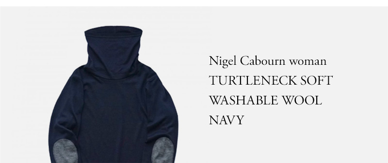 Nigel Cabourn woman - TURTLENECK SOFT WASHABLE WOOL - NAVY