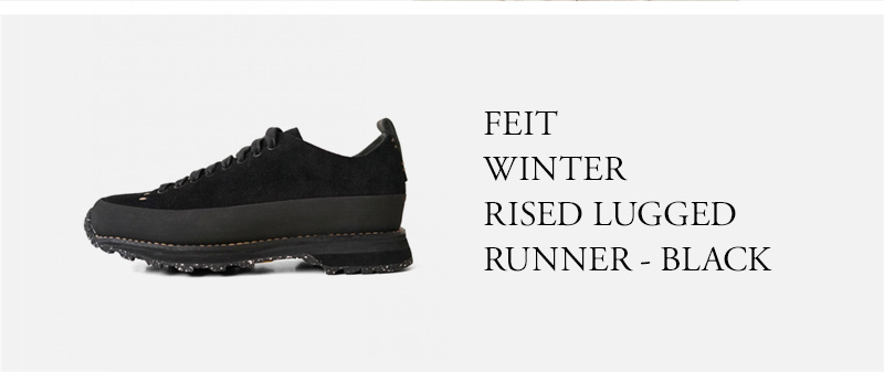 FEIT - WINTER RISED LUGGED RUNNER - BLACK