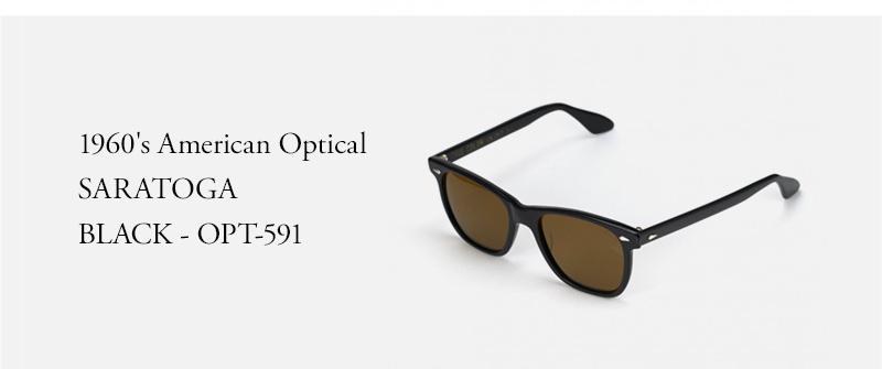 1960's American Optical - SARATOGA - BLACK - OPT-591
