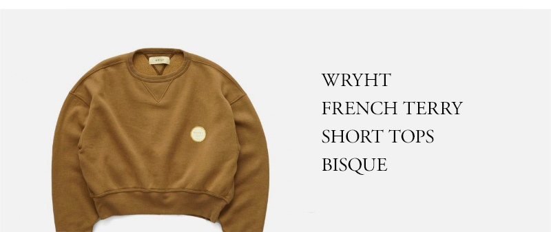 WRYHT- FRENCH TERRY SHORT TOPS - BISQUE