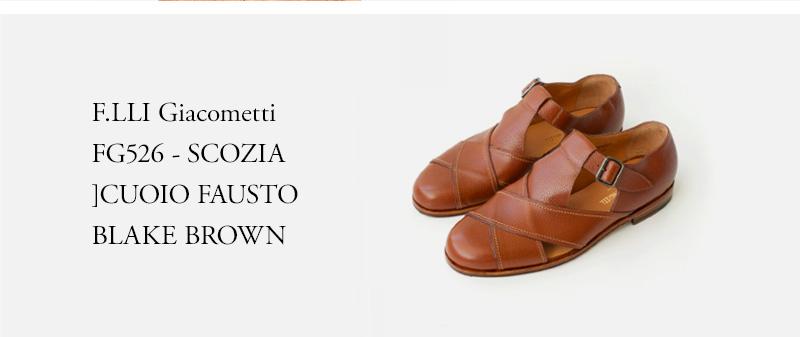 F.LLI Giacometti - FG526 - SCOZIA CUOIO FAUSTO BLAKE - BROWN