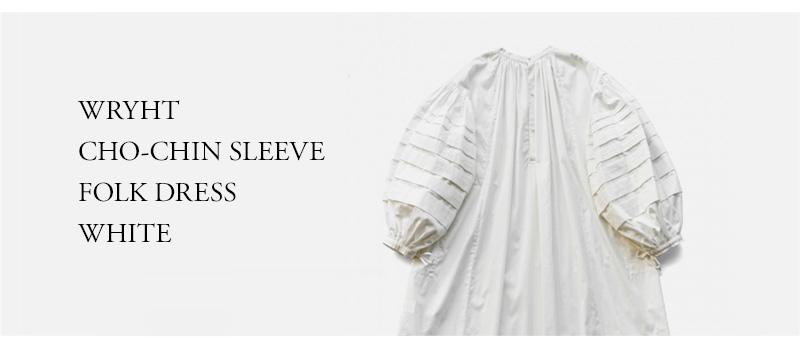 WRYHT - CHO-CHIN SLEEVE FOLK DRESS - WHITE