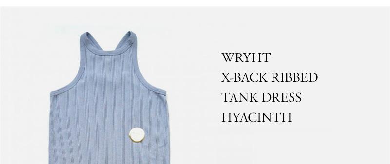 WRYHT - X-BACK RIBBED TANK DRESS - HYACINTH