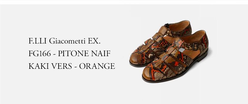 F.LLI Giacometti EX. FG166 - PITONE NAIF KAKI VERS - ORANGE