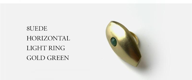 8UEDE - HORIZONTAL LIGHT RING - GOLD GREEN
