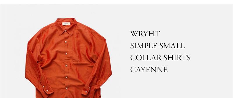 WRYHT - SIMPLE SMALL COLLAR SHIRTS - CAYENNE