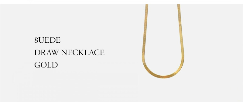 8UEDE - DRAW NECKLACE GOLD