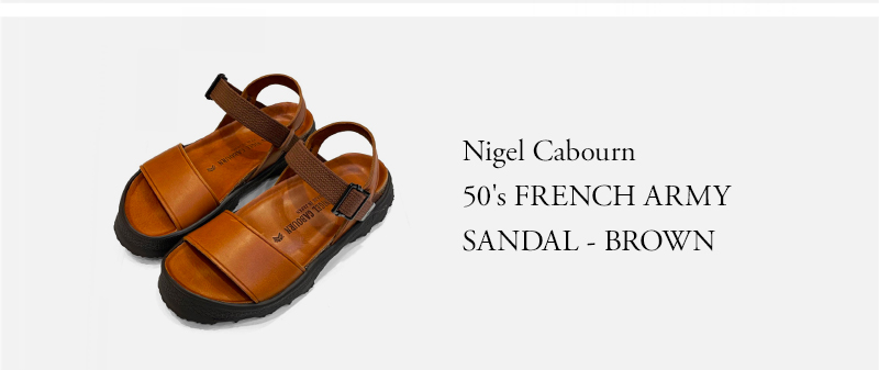 Nigel Cabourn - 50's FRENCH ARMY SANDAL - BROWN