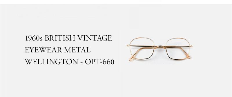 1960s BRITISH VINTAGE EYEWEAR METAL WELLINGTON - OPT-660