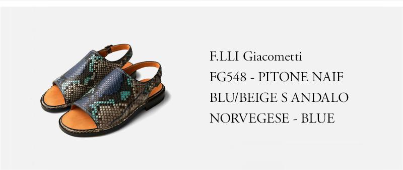 F.LLI Giacometti - FG548 - PITONE NAIF BLU/BEIGE SANDALO NORVEGESE - BLUE