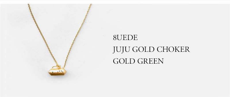 8UEDE - JUJU GOLD CHOKER - GOLD GREEN