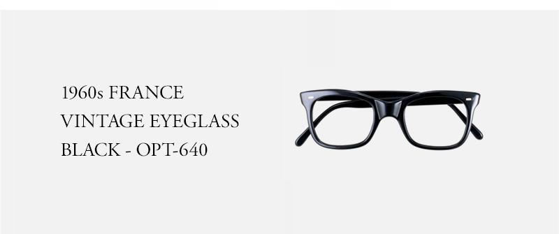 1960s FRANCE VINTAGE EYEGLASS BLACK - OPT-640