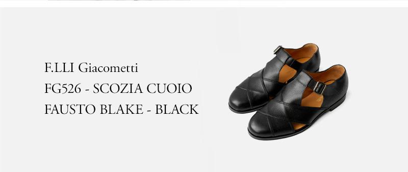 F.LLI Giacometti - FG526 - SCOZIA CUOIO FAUSTO BLAKE - BLACK