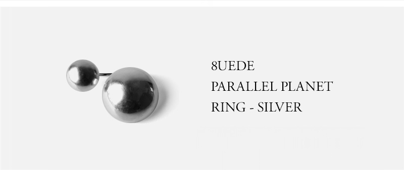 8UEDE - PARALLEL PLANET RING - SILVER