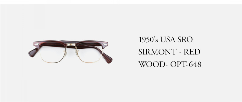 1950's USA SRO SIRMONT - RED WOOD- OPT-648
