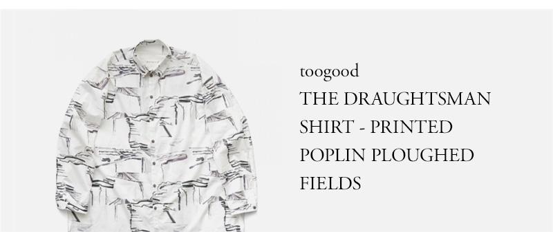 toogood - THE DRAUGHTSMAN SHIRT - PRINTED POPLIN - PLOUGHED FIELDS