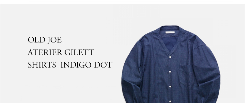 OLD JOE - ATERIER GILETT SHIRTS - INDIGO DOT