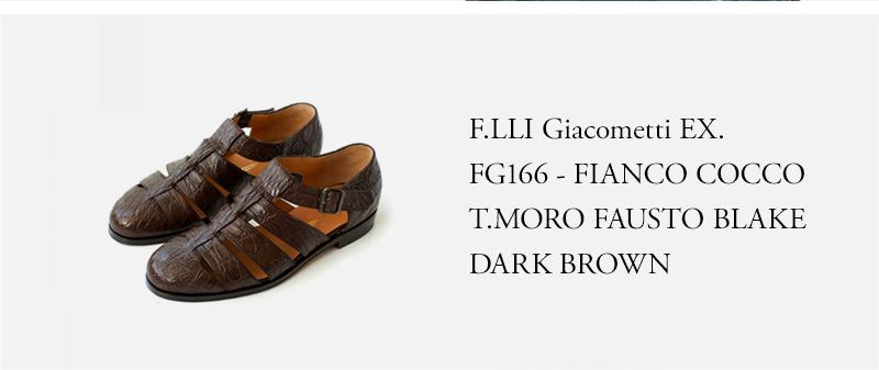 F.LLI Giacometti EX.- FG166 - FIANCO COCCO T.MORO FAUSTO BLAKE - DARK BROWN