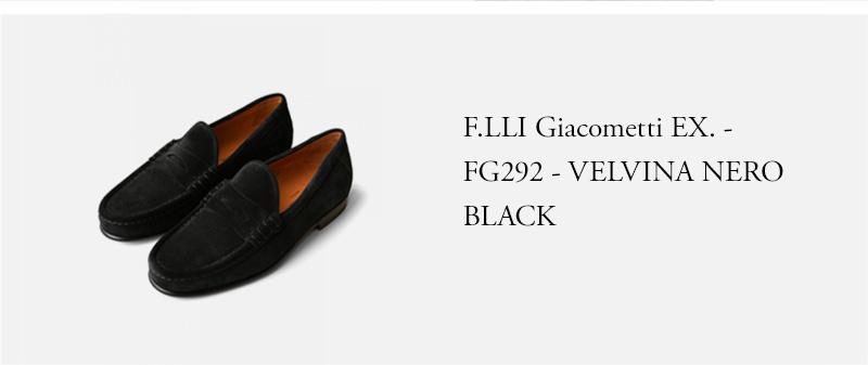 F.LLI Giacometti EX. - FG292 - VELVINA NERO - BLACK