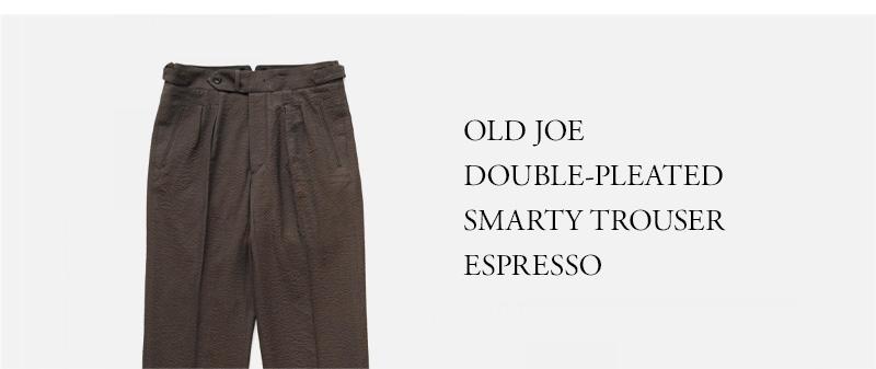 OLD JOE - DOUBLE-PLEATED SMARTY TROUSER - ESPRESSO