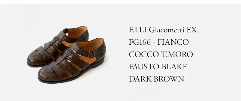 F.LLI Giacometti EX. FG166 - FIANCO COCCO T.MORO FAUSTO BLAKE - DARK BROWN