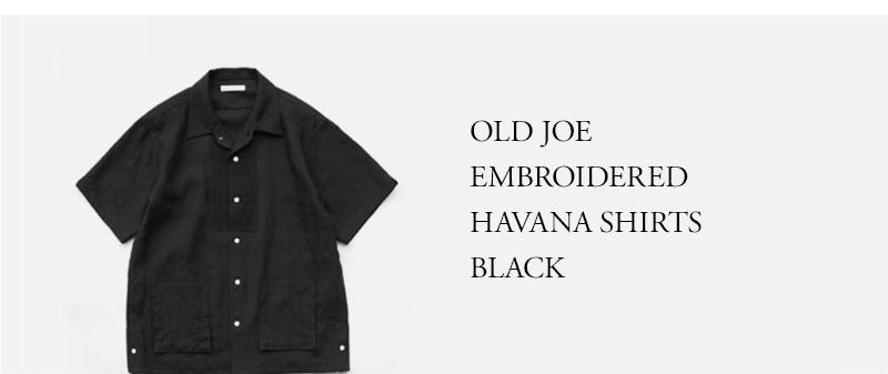OLD JOE - EMBROIDERED HAVANA SHIRTS - BLACK